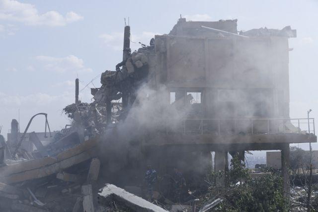 Εικόνες από τη Συρία μετά την επίθεση της Παρασκευής