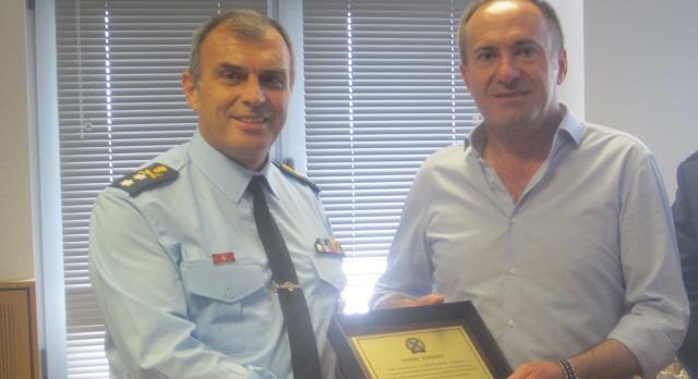 Επίσκεψη του Δ. Κοτσιάφτη στη Γενική Περιφερειακή Αστυνομική Διεύθυνση Θεσσαλίας