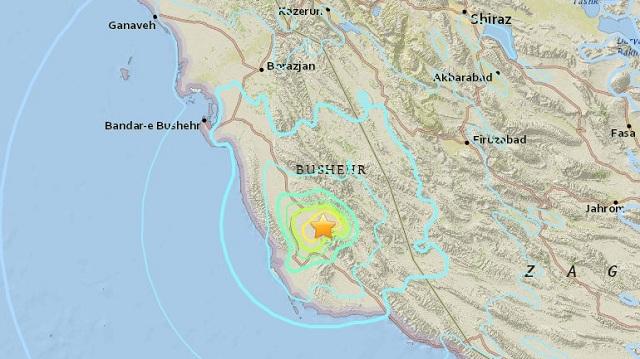 Σεισμός 5,9R στο νότιο Ιράν, κοντά σε πυρηνικό σταθμό
