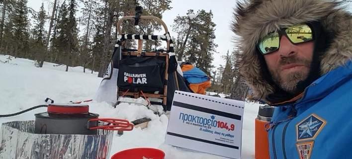Ποιος είναι ο Β.Βασιλειάδης που διέσχισε με έλκηθρο τον Αρκτικό Κύκλο στους -30