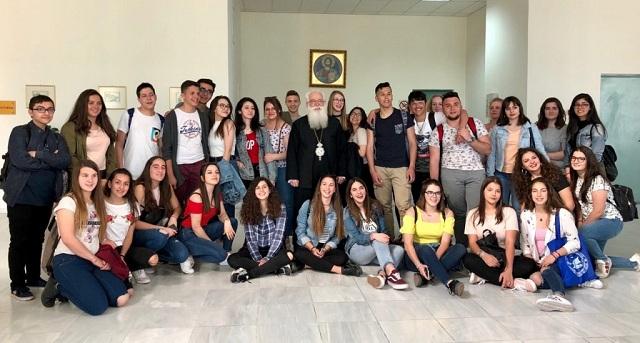 Επίσκεψη μαθητών του προγράμματος erasmus στον Μητροπολίτη
