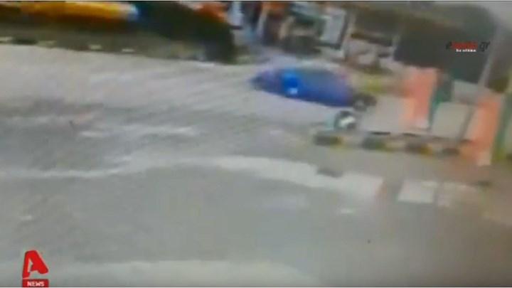 Σοκαριστικό τροχαίο στην εθνική οδό Καρδίτσας-Λαμίας (vid)