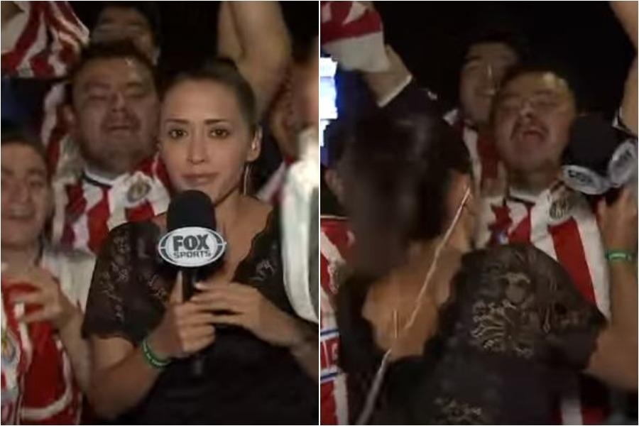 Δημοσιογράφος χτυπά έναν οπαδό με το μικρόφωνο (vid)