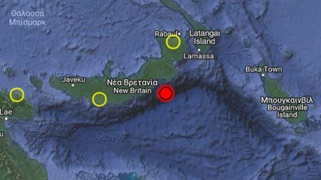 Σεισμός 6R ανοικτά των ακτών της Ν. Βρετανίας