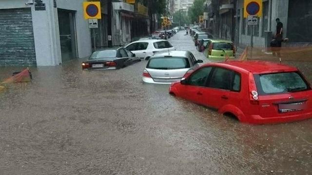 «Πνίγηκε» η Θεσσαλονίκη: Βροχή, χαλάζι και ποτάμι… προβλημάτων [βίντεο]