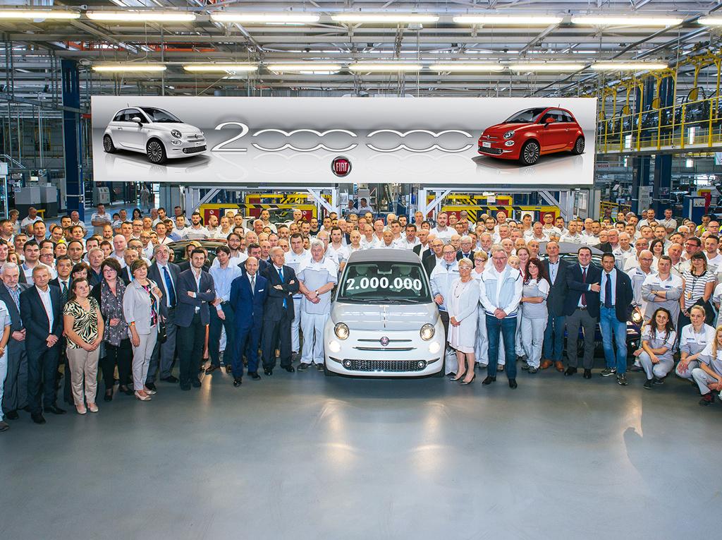 Το Fiat 500 υπ' αριθμόν 2.000.000 βγήκε από τη γραμμή παραγωγής!