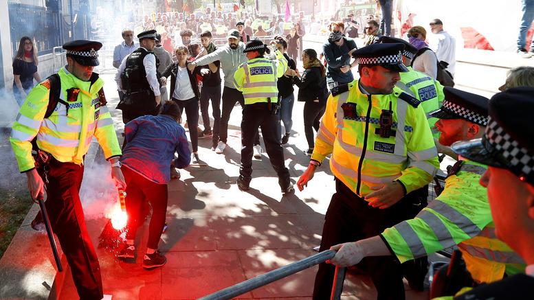 Επεισόδια στο Λονδίνο λόγω της επίσκεψης Ερντογάν