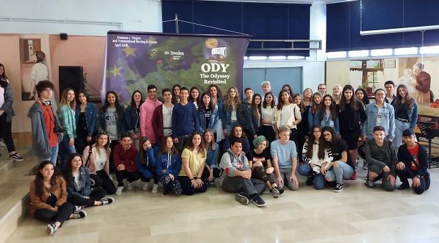 Φιλοξενία ευρωπαίων εκπαιδευτικών και μαθητών από το Γυμνάσιο Στεφανοβικείου