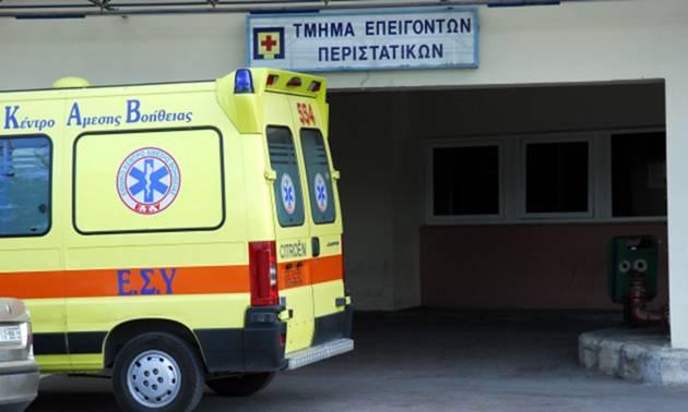 Σε κωματώδη κατάσταση στο Νοσοκομείο Λάρισας 34χρονος