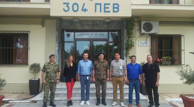 Αντιπροσωπεία της Ενωσης Στρατιωτικών Βόλου στο 304 ΠΕΒ