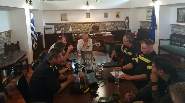 Περιπολίες στη Σκιάθο για την αντιπυρική προστασία του νησιού