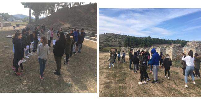 Το 2ο Γυμνάσιο Βόλου εξερευνά το Ανάκτορο και το αρχαίο Θέατρο Δημητριάδας
