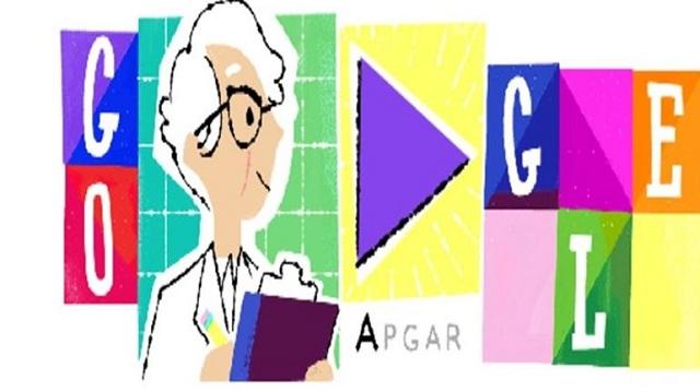 Το doodle της Google τιμά την αναισθησιολόγο Virginia Apgar
