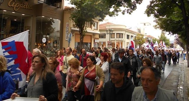 Συλλαλητήριο διαμαρτυρίας του ΠΑΜΕ για το πολυνομοσχέδιο -σκούπα