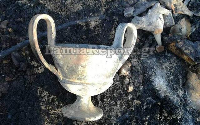 Κρυμμένο αρχαίο θησαυρό αποκάλυψε η πυρκαγιά στη Φθιώτιδα