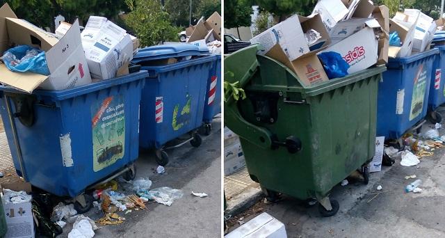 Διαμαρτυρίες για σκουπίδια στη Νέα Ιωνία