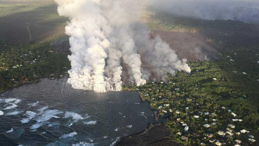 Ηφαίστειο στη Χαβάη εξάτμισε μια λίμνη (vid)