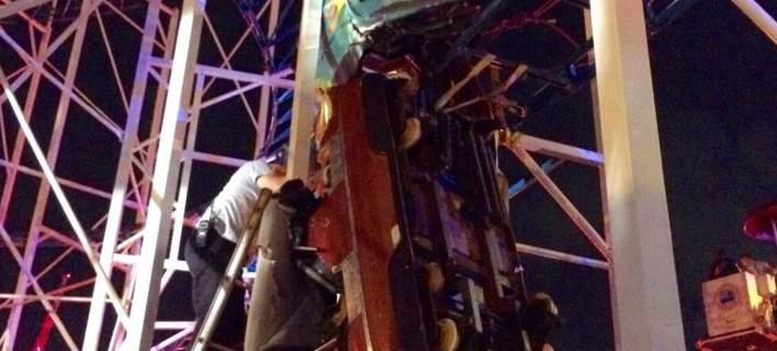«Τρενάκι του τρόμου» εκτροχιάστηκε στη Φλόριντα: Επιβάτες έπεσαν στο κενό από ύψος 10μ.
