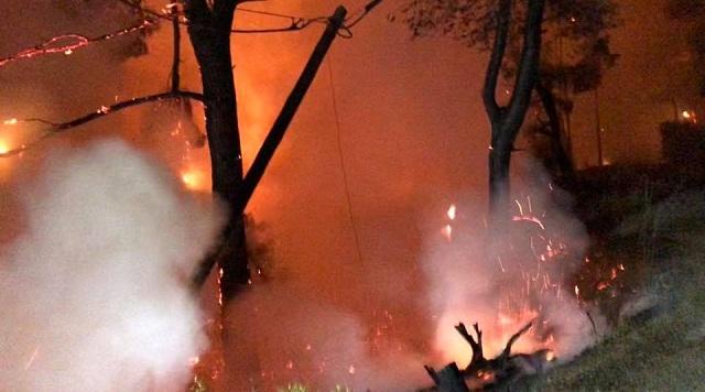 Εικόνες καταστροφής μετά την πυρκαγιά στην Αλόννησο
