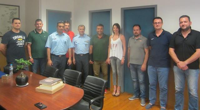 Το νέο Δ.Σ. της Ένωσης Αξιωματικών ΕΛ.ΑΣ. στον Γενικό Περιφερειακό Αστυνομικό Διευθυντή Θεσσαλίας