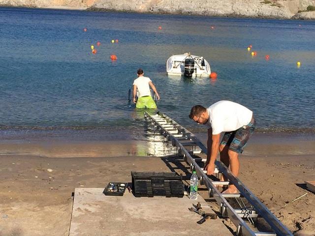 Εγκαταστάθηκε και φέτος το seatrack στην παραλία του Αναύρου