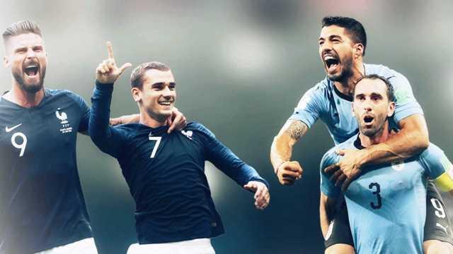 Ουρουγουάη – Γαλλία  για μια θέση στην 4άδα