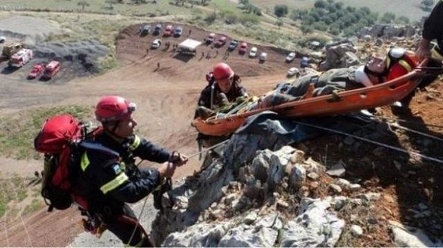 Eπιχείρηση απεγκλωβισμού 43χρονου ορειβάτη στην Εύβοια