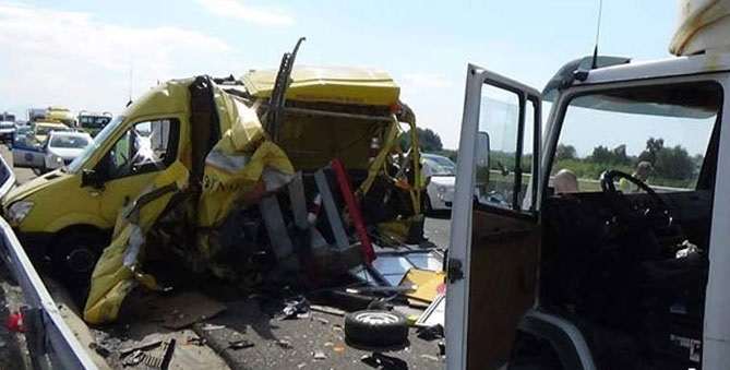 Σοβαρό τροχαίο με τραυματία στην Εγνατία Οδό [εικόνες]