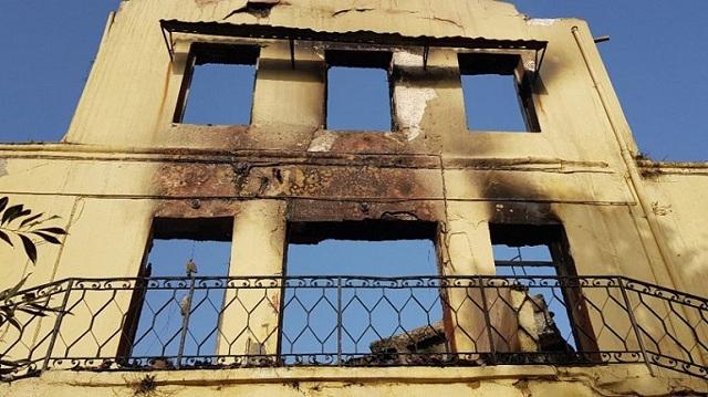 Εικόνες καταστροφής στο Πολεμικό Μουσείο των Χανίων