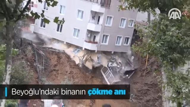 Κωνσταντινούπολη: Κατέρρευσε τετραώροφο κτίριο έπειτα από σφοδρές βροχοπτώσεις [video]