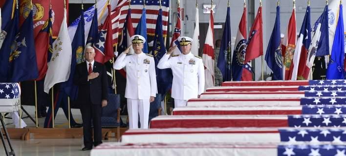 Xαβάη: Δάκρυα στην υποδοχή των λειψάνων Αμερικανών στρατιωτών, πεσόντων στον Πόλεμο της Κορέας