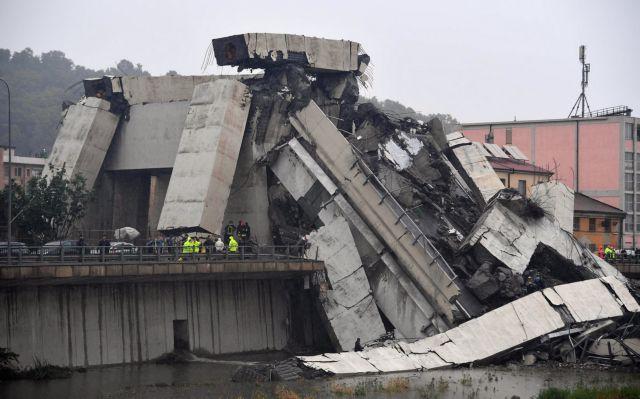 Γένοβα: Μεγάλες φθορές είχε η γέφυρα που έπεσε (Εικόνες)