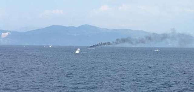 Βούλιαξε σκάφος στους Παξούς έπειτα από πυρκαγιά