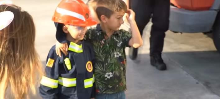 To Make a Wish και η Πυροσβεστική πραγματοποίησαν την ευχή του μικρού Θοδωρή [βίντεο]