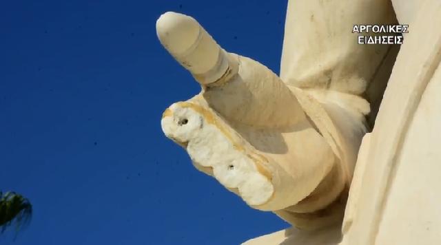 Βανδάλισαν το άγαλμα του Καποδίστρια στο Ναύπλιο