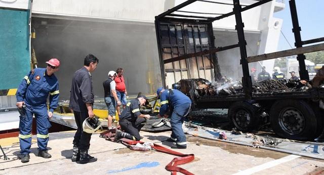 Εσβησε η φωτιά στο Ελευθέριος Βενιζέλος μετά από δύο ημέρες -Βγάζουν καμένες νταλίκες [εικόνες]