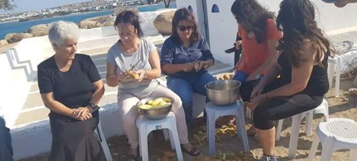 Ολη η Νάξος... καθαρίζει πατάτες και πάει για ρεκόρ Γκίνες [εικόνες]