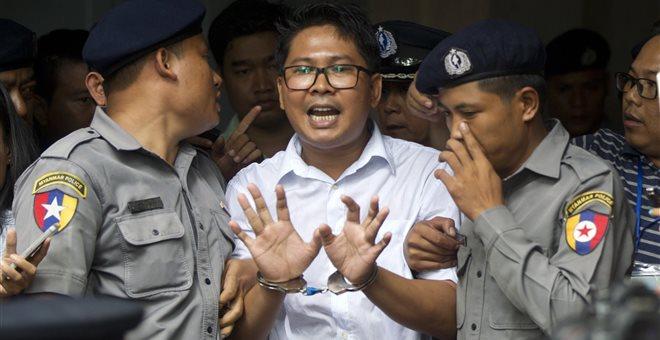 Σε 7ετή κάθειρξη καταδικάστηκαν δύο δημοσιογράφοι του Reuters στην Μιανμάρ