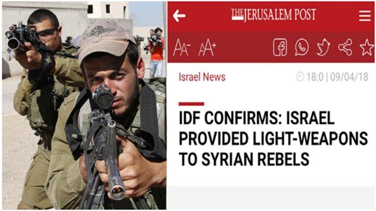 Επιβεβαιώθηκε πως ο ισραηλινός στρατός εφοδίαζε τους Τζιχαντιστές με ελαφρύ οπλισμό