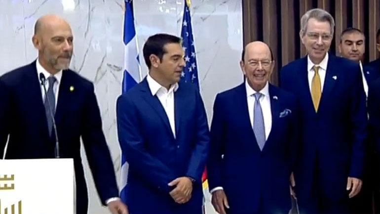 Εγκαίνια περιπτέρου ΗΠΑ- Τσίπρας: Η Ελλάδα ανοίγει τις πύλες της στη νέα εποχή