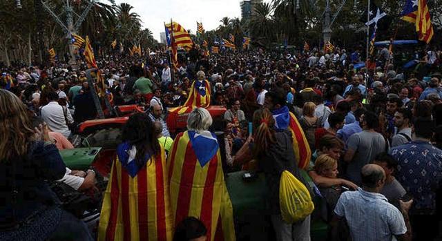 Καταλονία: Πορεία με σύνθημα την απελευθέρωση των κρατούμενων πολιτικών