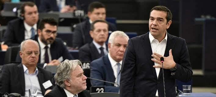 Πυρά ομαδόν από την αντιπολίτευση για την ομιλία Τσίπρα στην Ευρωβουλή