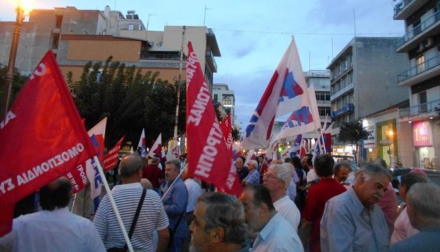 Μαζική συγκέντρωση του ΠΑΜΕ στον Βόλο κατά των εξαγγελιών Τσίπρα στη ΔΕΘ