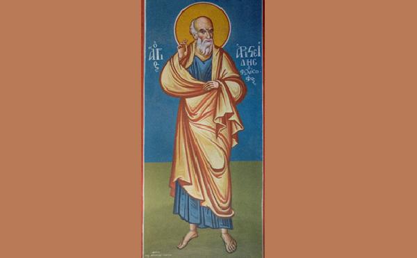 Ο Αγιος Αριστείδης και η τοιχογραφία του στον Μητροπολιτικό Ναό Αγίου Νικολάου Βόλου