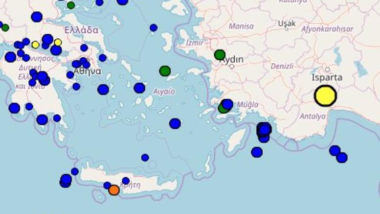 Σεισμός 4,4 Ρίχτερ νοτιανατολικά της Κρήτης