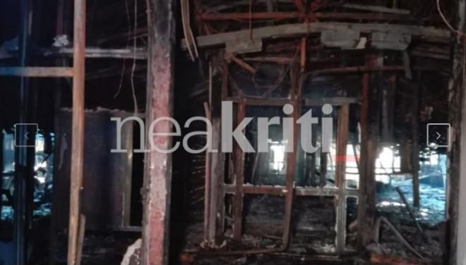 Τεράστιες καταστροφές στο Πανεπιστήμιο Κρήτης μετά από φωτιά