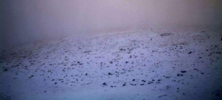 Επεσε το πρώτο χιόνι στον Ολυμπο [εικόνες]