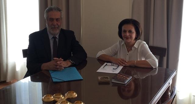 Συνάντηση Δ. Εσερίδη με τη Μ. Χρυσοβελώνη