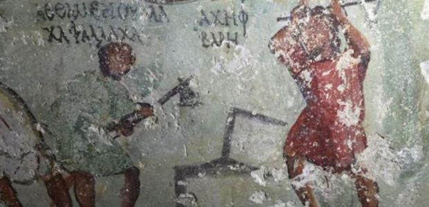 Αρχαίο κόμικ εντοπίστηκε σε τάφο του 1ου αιώνα μ.Χ. στην Ιορδανία (Φωτο)