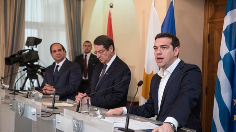 Τριμερής Σύνοδος Κορυφής Ελλάδας - Κύπρου -Αιγύπτου στην Ελούντα